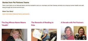 Stories from Pet Partners teams
