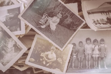 A collage of vintage photos