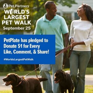 World's Largest Pet Walk: PetPlate pledged to donate $1 for every like, comment & share